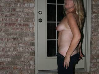 I'd love to dance with a beautiful woman like you. And to also titilate those great tits and that engorged nipple.