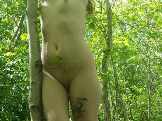 Full frontal in the woods