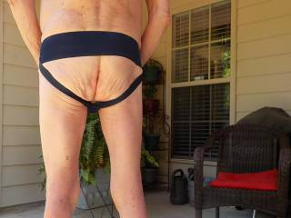 New jock strap, and wore it feeling so horny!