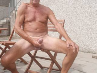 My cock loves being out in the sunshine