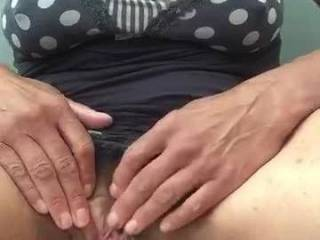 Watching my subbie pull her panties from her gaping wet pussy, after having been instructed to stuff them there for me