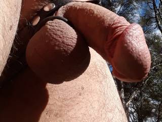 Ball strap in the outdoors