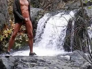 Wank by the waterfall