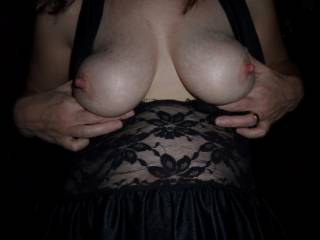 they look perfect thoes nipples would feel awesome between my lips while i was sucking on them