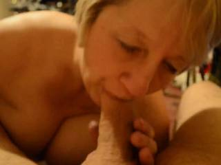 I wonder whether she enjoys having her pussy eaten as much as, or more than giving blow-jobs? I would love to be in a 69 with her  xxx :-)