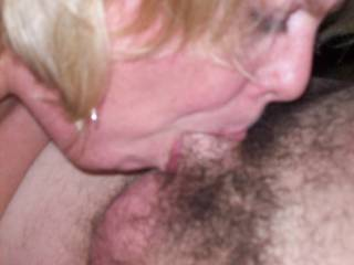 Mrs Daytonohfun deep throating her hubby after I finished fucking her and he watched