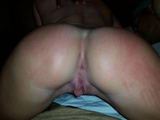Shot of my freshly fucked pussy getting ready to take a WHOLE LOT more fucking!!!