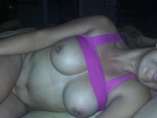 Love your long hard nipples mmmm  feels so good in my mouth  My cock is your hun