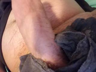 All thats missing is your nice warm mouth wrapped around my cock. ;)