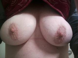 My new girlfriends titts I bet you guys and gals can't guess her age