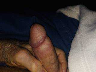 Swollen cock early in the morning, sun's not up yet.