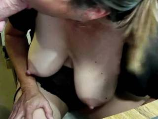 I was showing my tits and pussy in the video chat when all of a sudden SOME GUY starts waving his cock in front of me, so I went ahead and sucked it good!