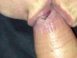 Love sticking my tongue 👅 inside hubby's foreskin 😋 tastes so good