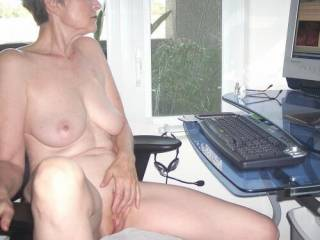 Checking My Messages-getting wet thinking how good that big cock would feel in my pussy