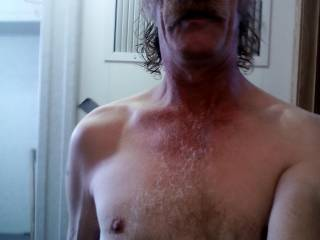 My slightly hairy chest...As you can see my beard is gone too...Do you like???