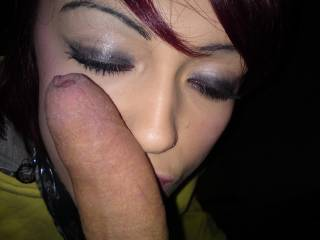 friend ask me to rest my cock on her face
