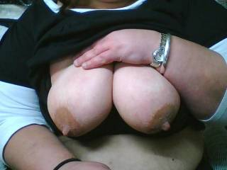 all thats missing from this pic is my hard cock between those tits with my hot cum dripping from each nipple
