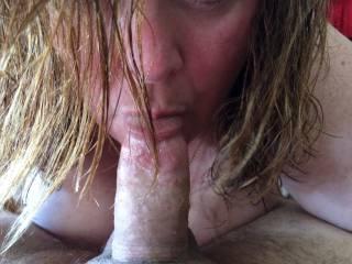 Wife sucking my cock