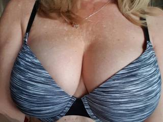 Mrs ikpm displaying her big beautiful Breasts for me. Check back tomorrow for her weekly NFL pick 5, who knows maybe she is wearing your teama gear this week.