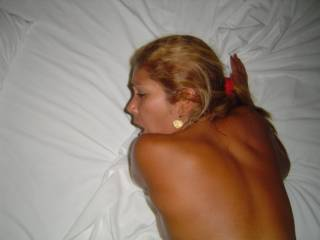 She likes being fucked from behind