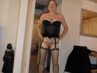 Hi all just thought I would post a few pictures of me showing my curves at home dirty comments welcome mature couple
