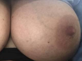 Close up of her big tits