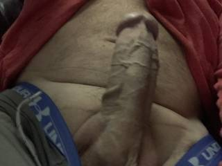 Wife wanted a pic of my hard throbbing cock for her album