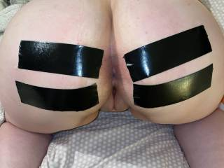 Experimenting with some Gorilla Tape 😋 love how it helps show off her lush arse ��