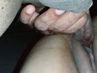 Hot and wet red pussy fucking slowly.Dick and testes show