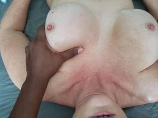Mrs. K and i had a fun session. Love introducing new people to the art of erotic massage.