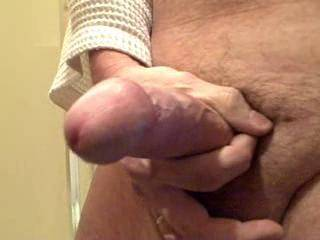 Very nice cumshot.....mmmmm...I love how it just hung there....wish I could suck and swallow your next load.....mmmm