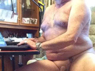 on my knees sucking your hot cock as you get more and more horny