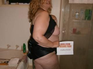 Some pics of me in my black satin pjs.