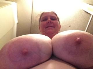 my oh my, they are big sexy tits, that's the money shot, love to see more of them