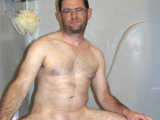 Taking some pics after I just shaved my cock.