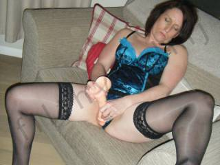 Hmmm those sexy stockings frame your pussy perfectly - do you need a hand with that toy?