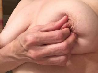 I'll suck and lick your nipples and make your have a nipples orgasm