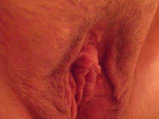 Hubby took you guys this extreme closeup of my clitty - is it making your mouth water yet?