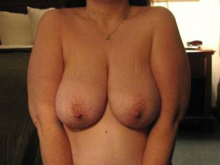 those magnificent tits r only missing 1 thing, my tongue and lips kissing and licking them!!!!