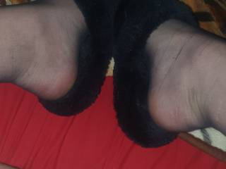 Small dick and sexy slippers
