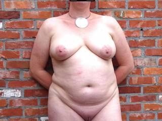Big saggy tits and a little bald slit...