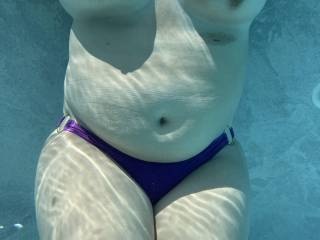Having some summer fun in the pool, nothing like taking the fun up a notch and getting naked!