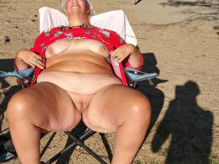 Another day at the local beach and she is showing her beautiful body to the lucky people looking.