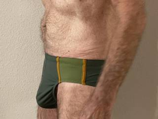 Do you think these swim trunks are OK for a public beach, or is Mr. Floridaman's bulge too obvious?  From Mrs. Floridaman