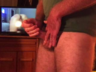 Would you like to watch me stroke over your pics live in the videochat room? I haven\'t cum since the last time I had a lady watching me cam. I am saving it for my next show. It\'s been over a week! Have mercy ladies! come watch my cam so I can unload 4 U ;
