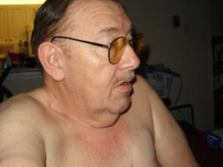 """Proudly showing off my """"manboobs"""".  Eat your hearts out gals...don\'t you wish?  LOL!"""