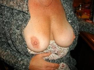 More of my wifes tits......
