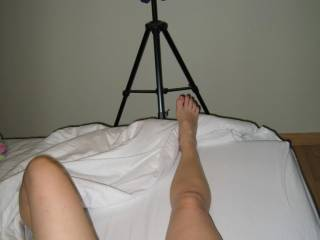 mm i will love to see more like this. sexy legs and hot feet. let me cum over them,   im hard for you. i hope to see u on cam soon.