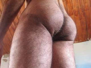 Wow what a hot and hairy ass you have love it!!!