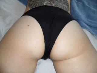 I'd love to take them off and give her a good fucking!  I love her ass!